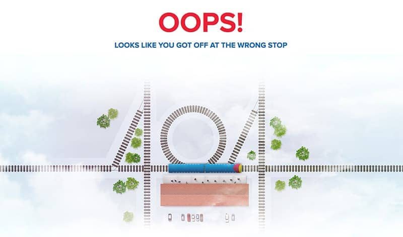 404 page design example