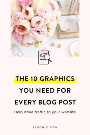 The 10 Graphics You Need for Every Blog Post to Increase Your Traffic | We share the 10 graphics you need to be using for every blog posts to increase traffic, generate more leads, and make more sales for your business.