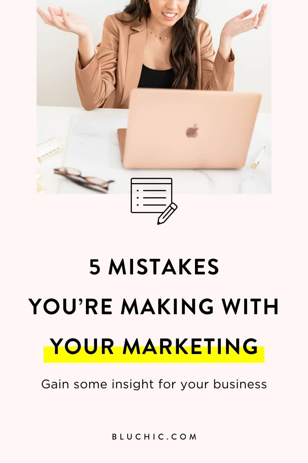 5 Mistakes you're making with your marketing as a business owner | We share 5 marketing mistakes business owners make today with their business, so you can gain some insight and not make these mistakes for your own business.