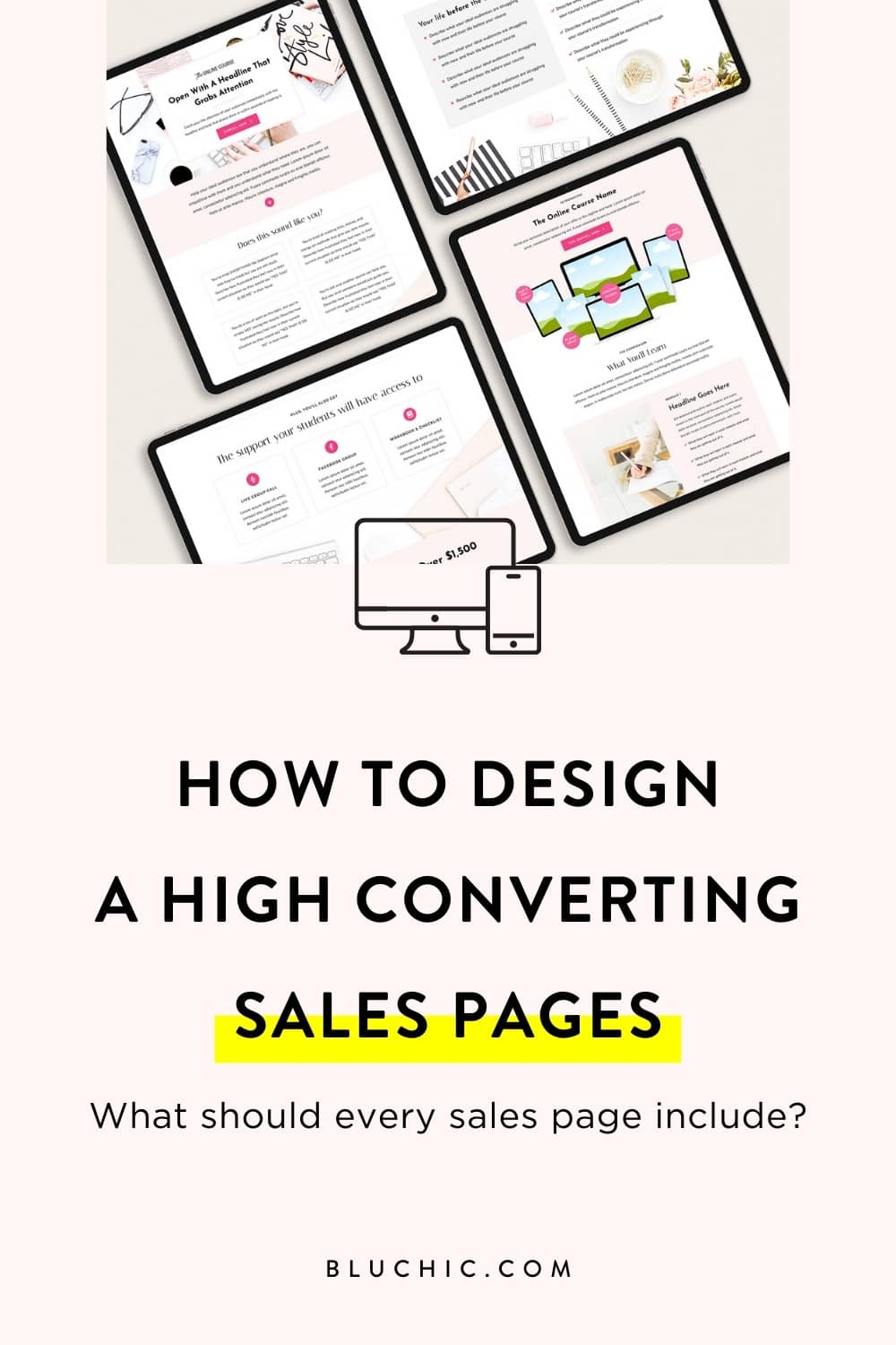 We're sharing how to design high converting sales pages so you'll feel confident in creating a sales page for your business. Free checklist included!