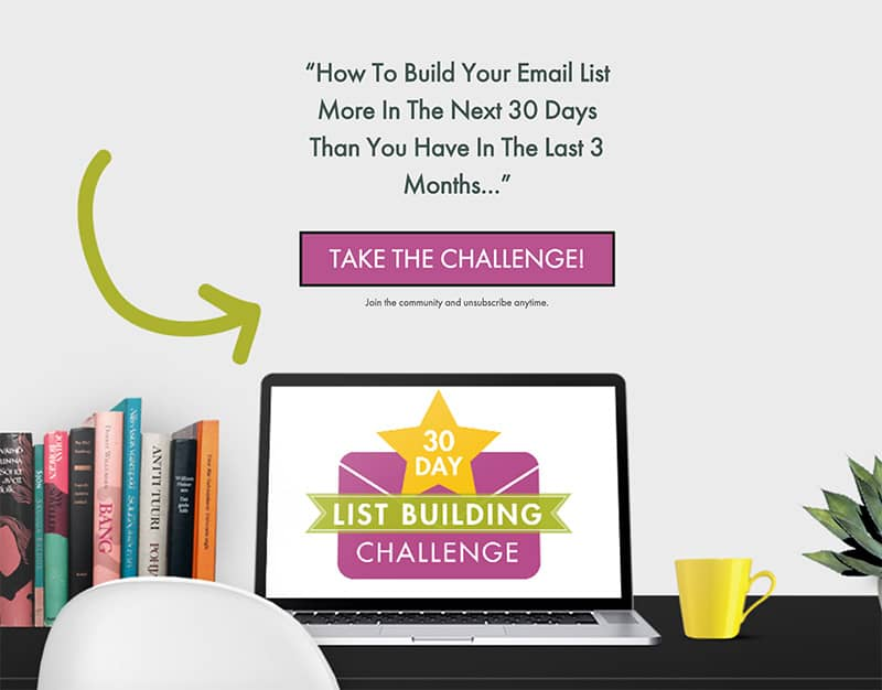 Join the free 30 days list building challenge