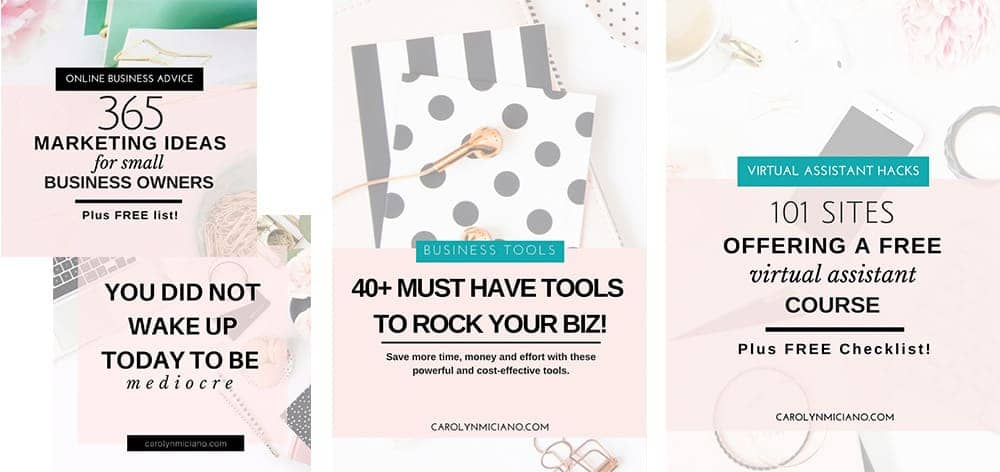 Using Canva Social Media Templates by Bluchic for Virtual Assistant Business