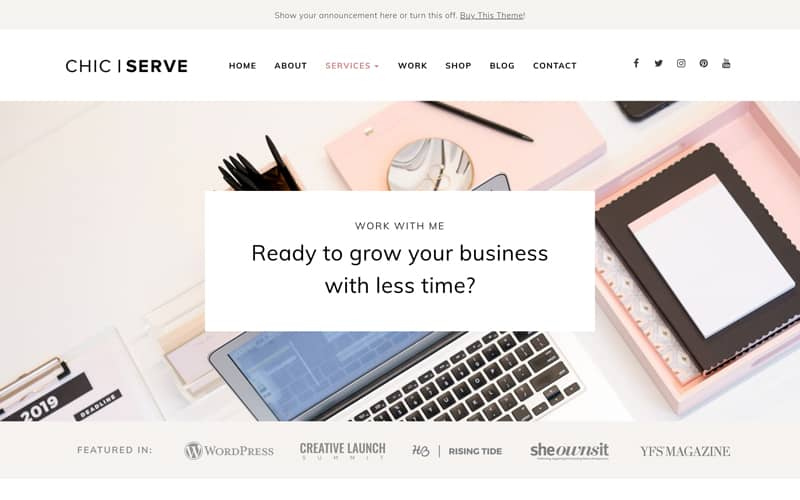 ChicServe service page