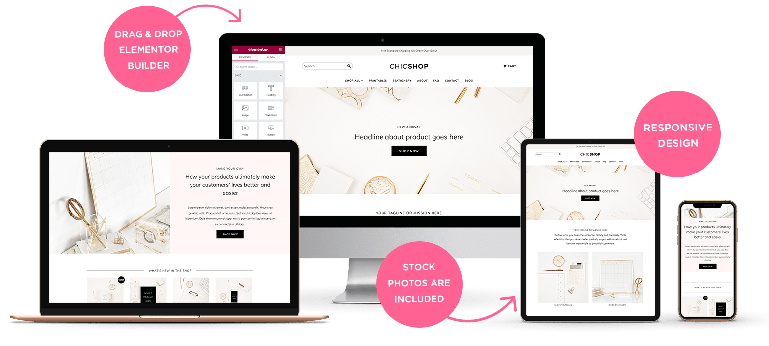 Responsive layout | ChicShop WooCommerce WordPress Theme for Online Shop