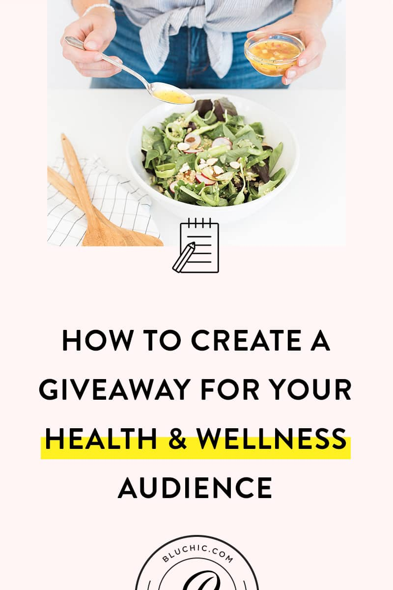 How to Create a Giveaway for Health & Wellness Brands | Want to grow your audience or reach your ideal customers? Learn how to create a giveaway that can help you meet your health or wellness brand's goals.