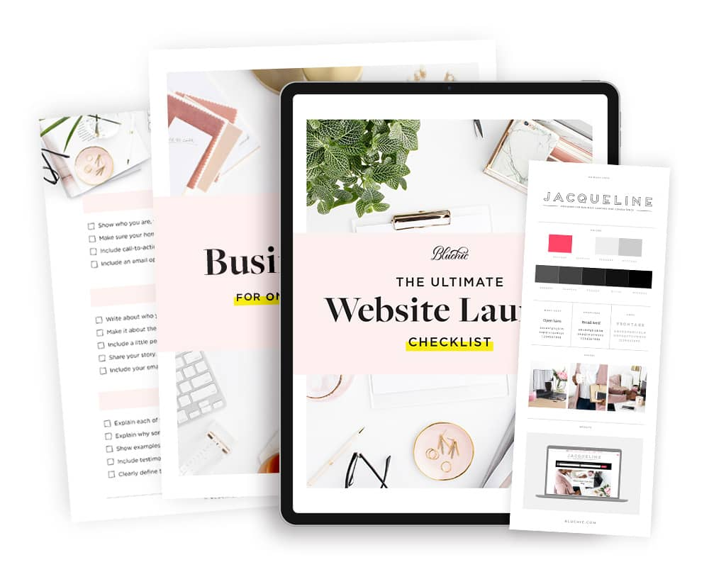 bonus website launch checklist when purchase Jacqueline WordPress Theme