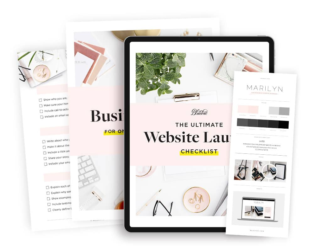 bonus website launch checklist when purchase Marilyn WordPress Theme