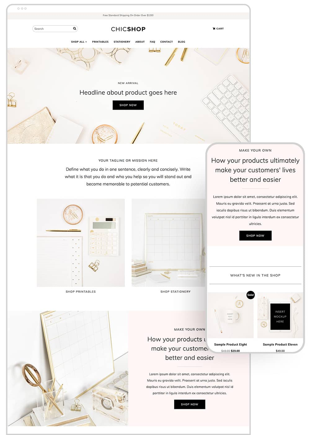 mockup-chicshop-theme-homepage