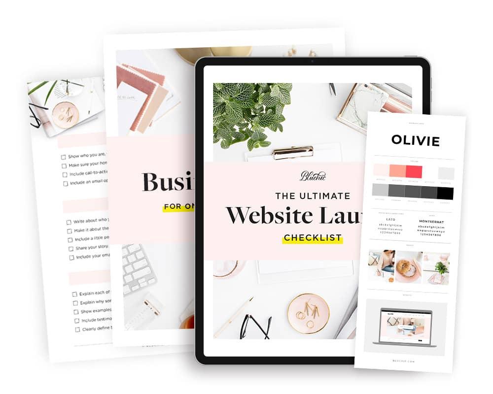 bonus website launch checklist when purchase Olivie WordPress Theme