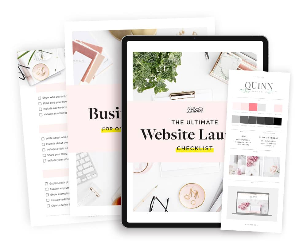 bonus website launch checklist when purchase Quinn, wedding planner WordPress theme