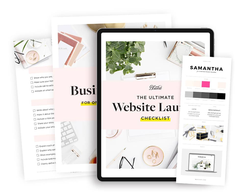 bonus website launch checklist when purchase Samantha WordPress Theme for Online Shop
