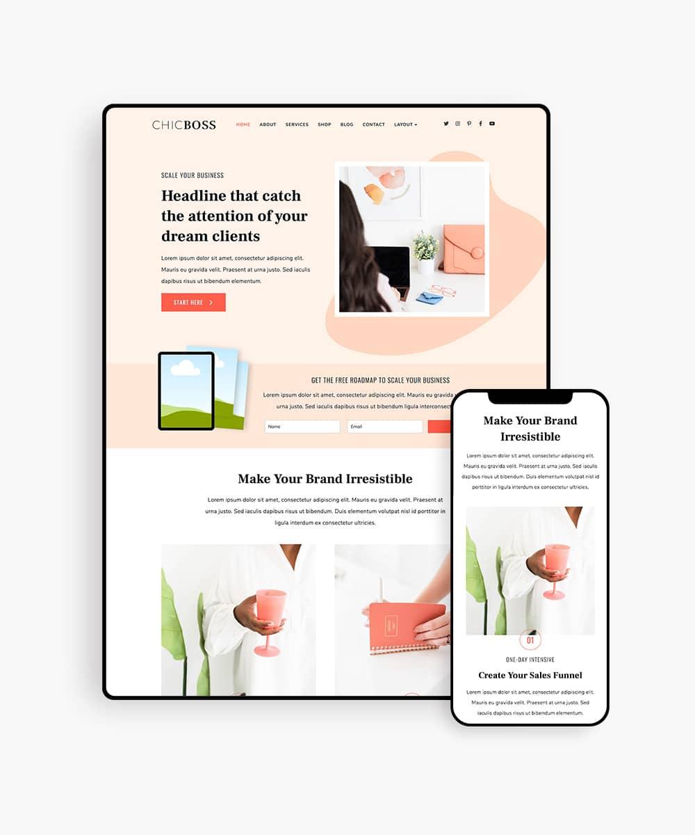 ChicBoss digital product wordpress theme