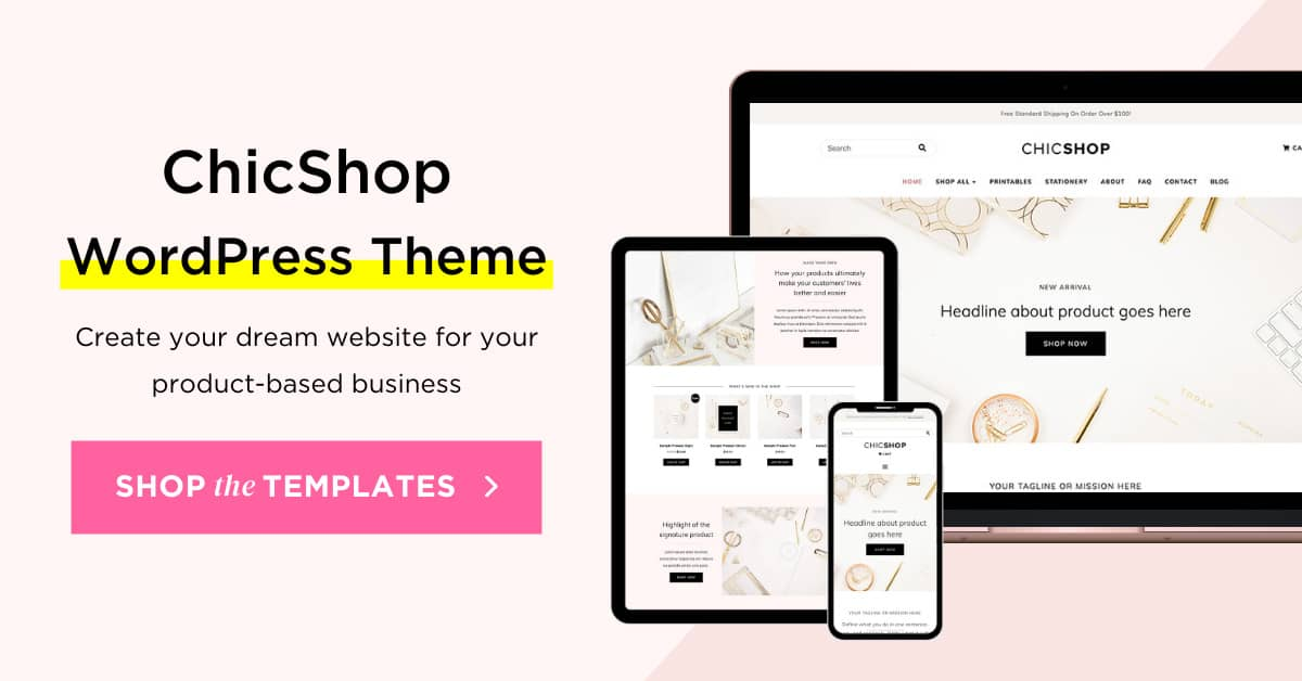 ChicShop Elementor WordPress Theme for online shop