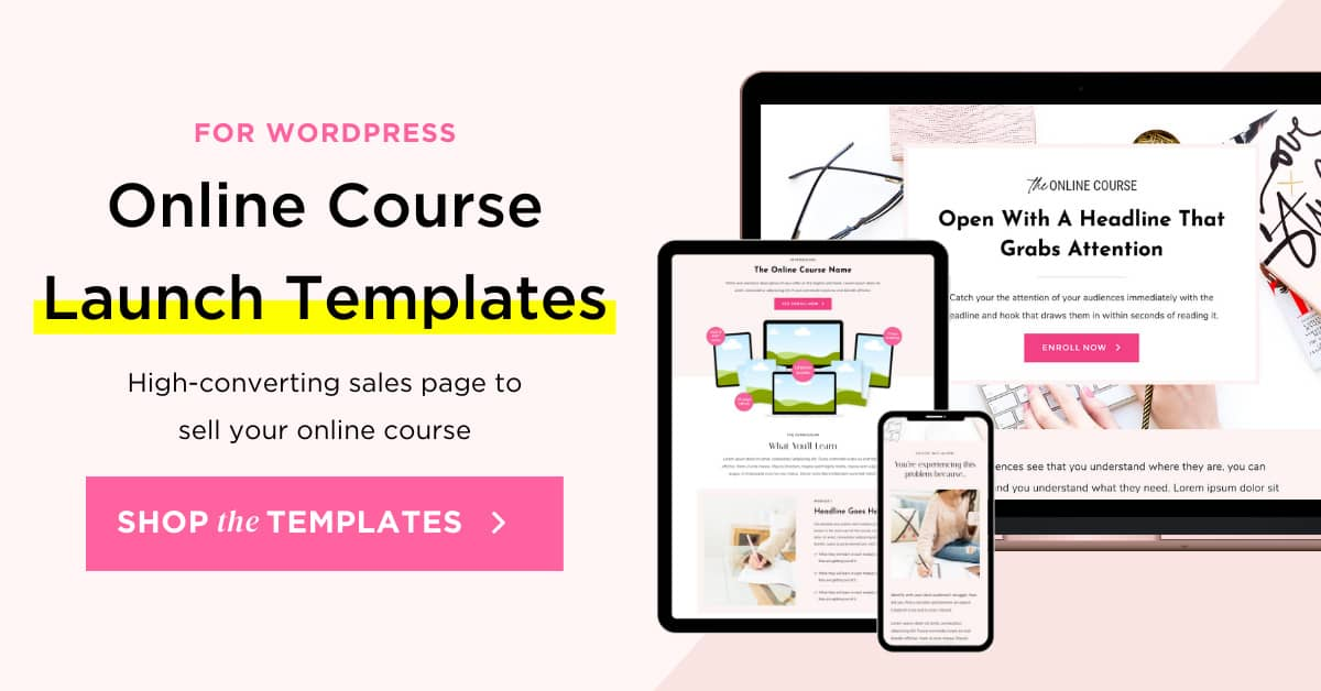 Online Course Launch Templates for WordPress and Elementor