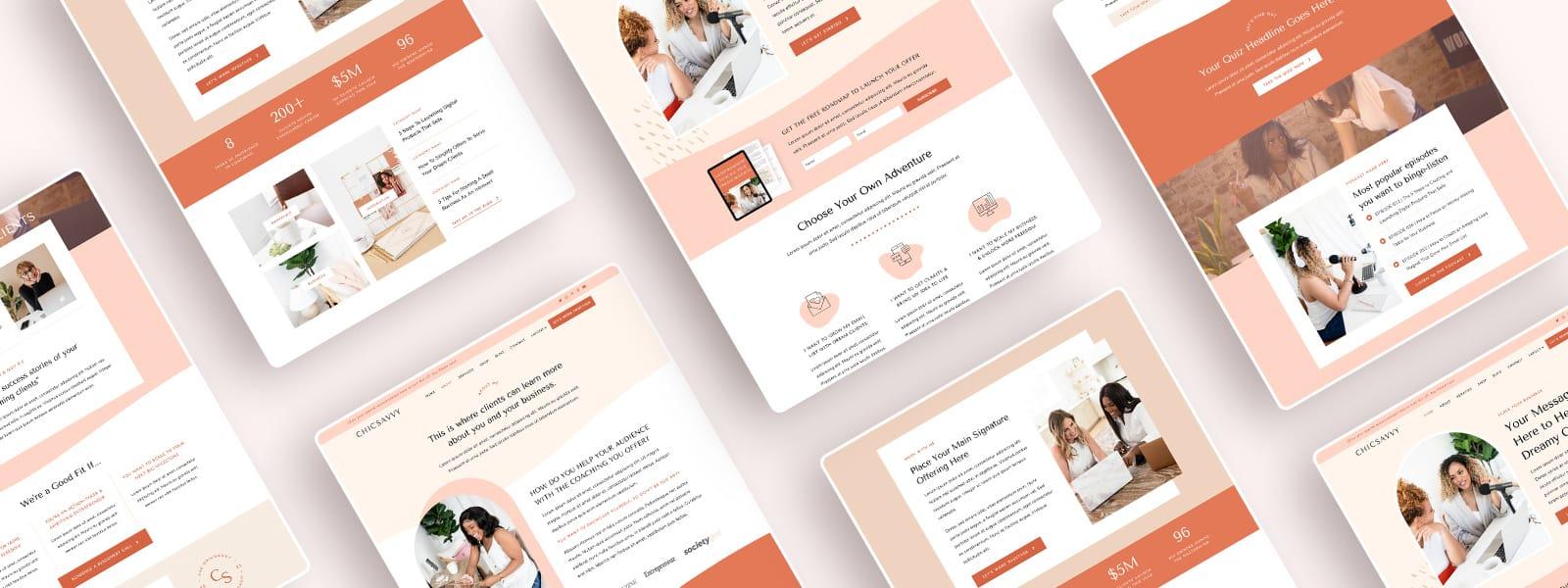 Elementor website templates | ChicSavvy coaching wordpress theme